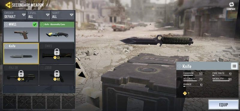 The knife (Image Credit: Gameplay.tips)