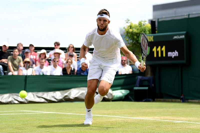 Jiri Vesely at Wimbledon 2019.