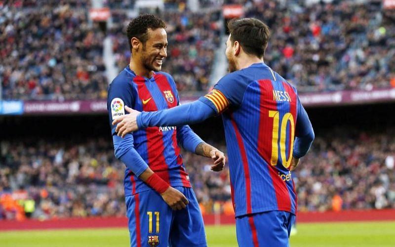 Neymar (left) and Lionel Messi