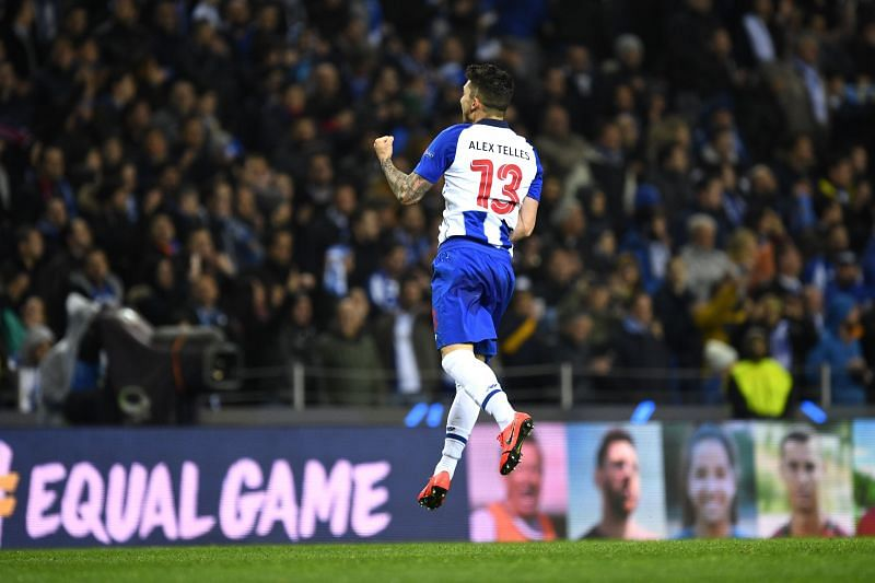 Alex Telles of FC Porto celebrates after scoring