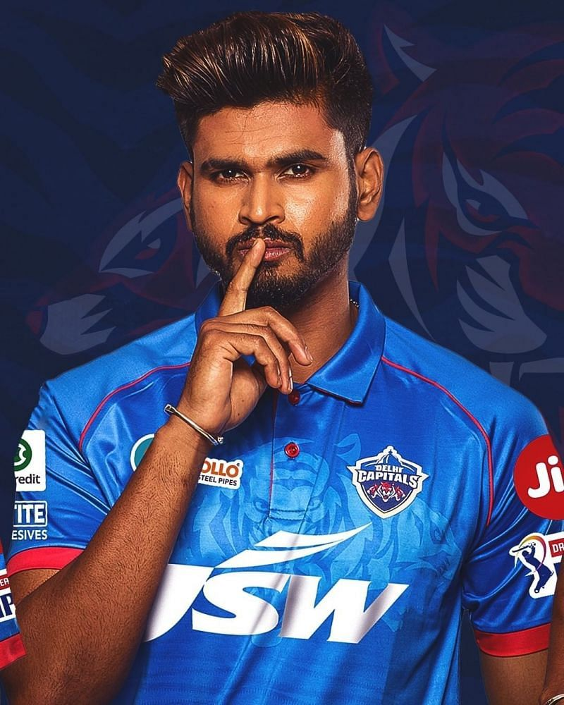 Skipper Shreyas Iyer styling the new DC Shirt. Image Credits: Delhi Capitals