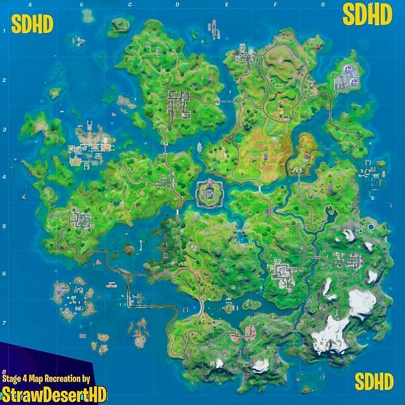 Fortnite Chapter 2 Season 4 Map