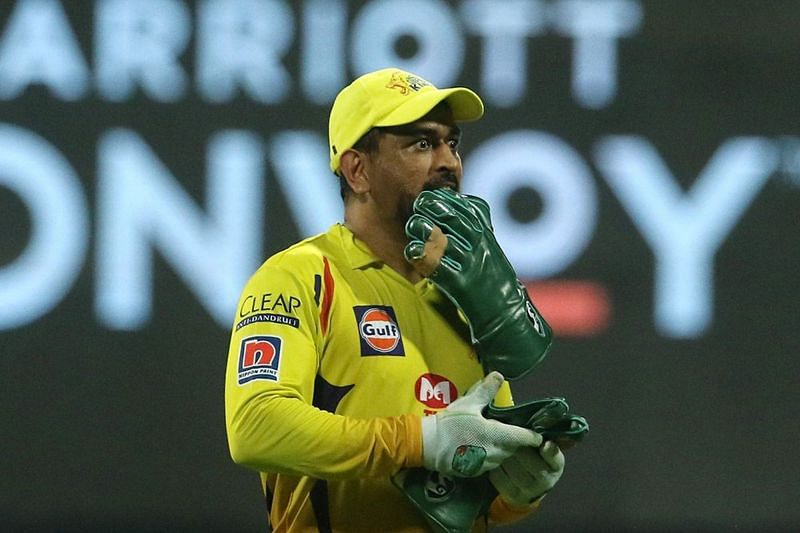 IPL 2020: A photo of MS Dhoni from the match between CSK and MI (Image Credits: IPLT20.com)
