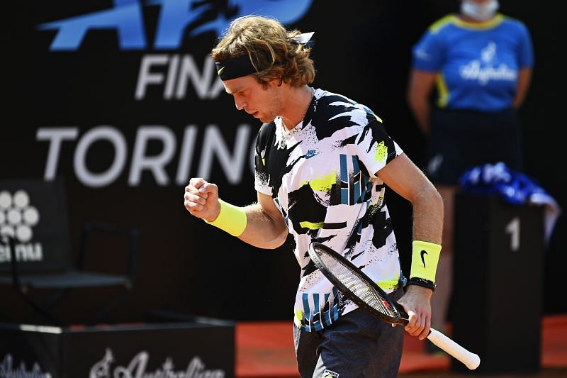 Andrey Rublev at the Italian Open in Rome last week.