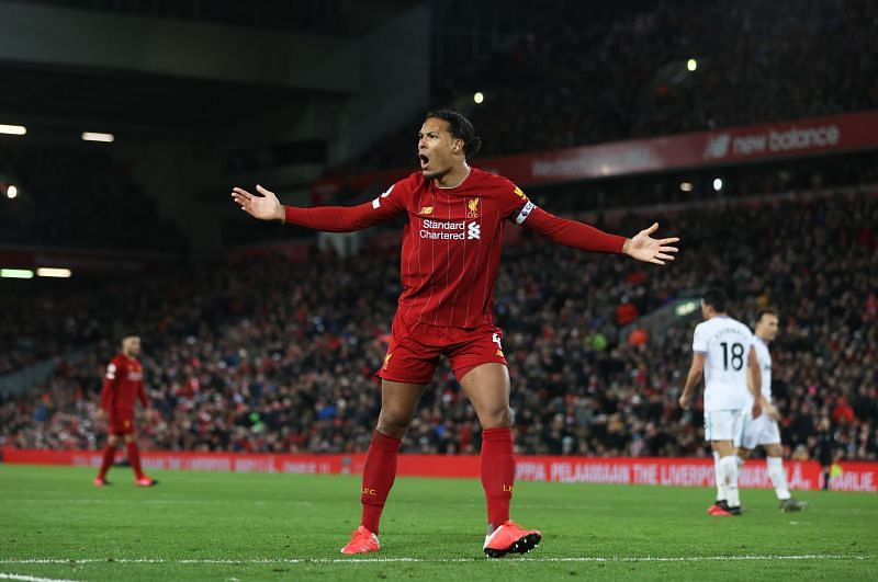 Liverpool centre back Virgil van Dijk has been branded as
