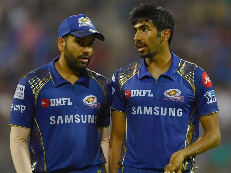Rohit Sharma (L) and Jasprit Bumrah (R) will be key features for MI during a Super Over.
