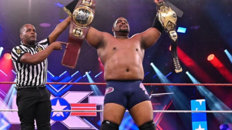 Keith Lee held both the North American and the WWE NXT Championships at the same time in NXT