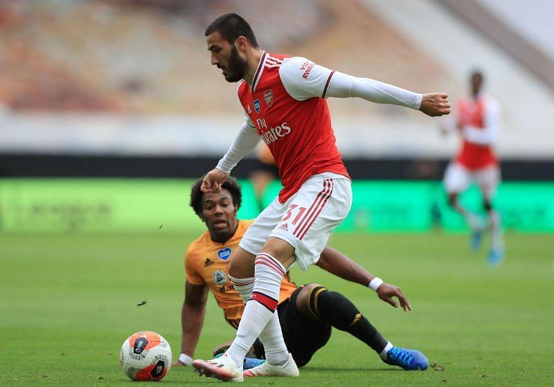 Kolasinac in action for Arsenal