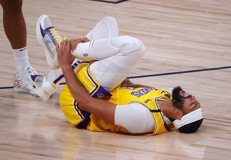 Davis injured his left ankle in Game 4