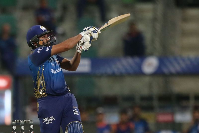Rohit Sharma pulled and pulled against KKR [PC: iplt20.com]