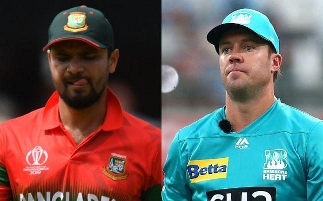 AB de Villiers and Mashrafe Mortaza