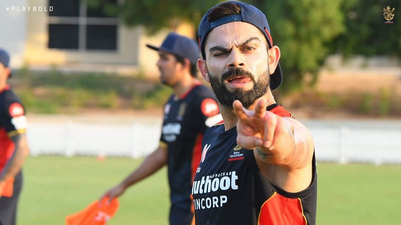 Virat Kohli seems to be in good spirits ahead of IPL 2020 [PC: RCB Twitter]