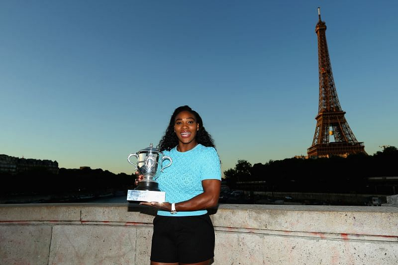 Serena Williams with the winner