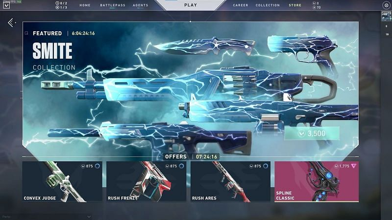 Riot is open to updating weapon cosmetics in Valorant (screengrab from valorant store)