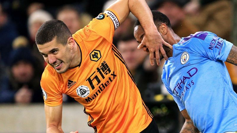 Conor Coady and Raheem Sterling