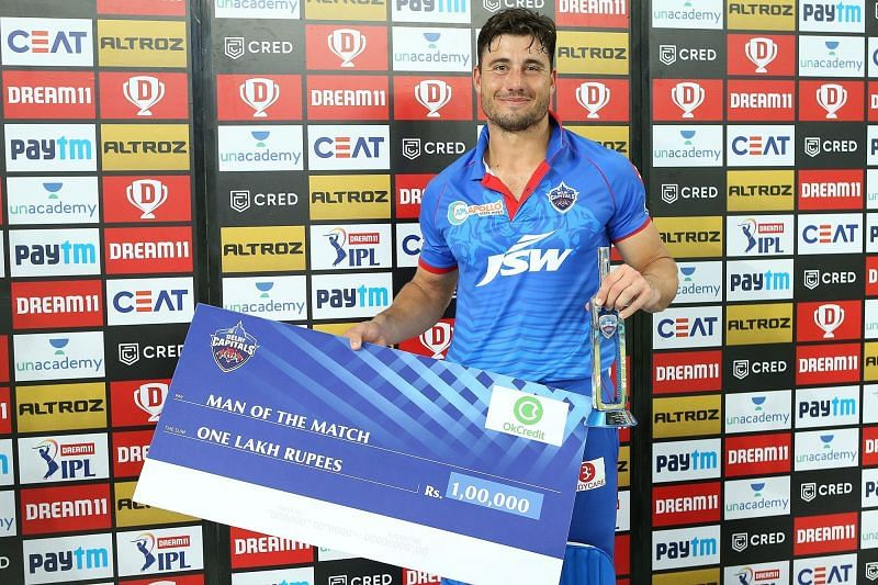 Marcus Stoinis picked apart the KXIP bowlers [PC: iplt20.com]