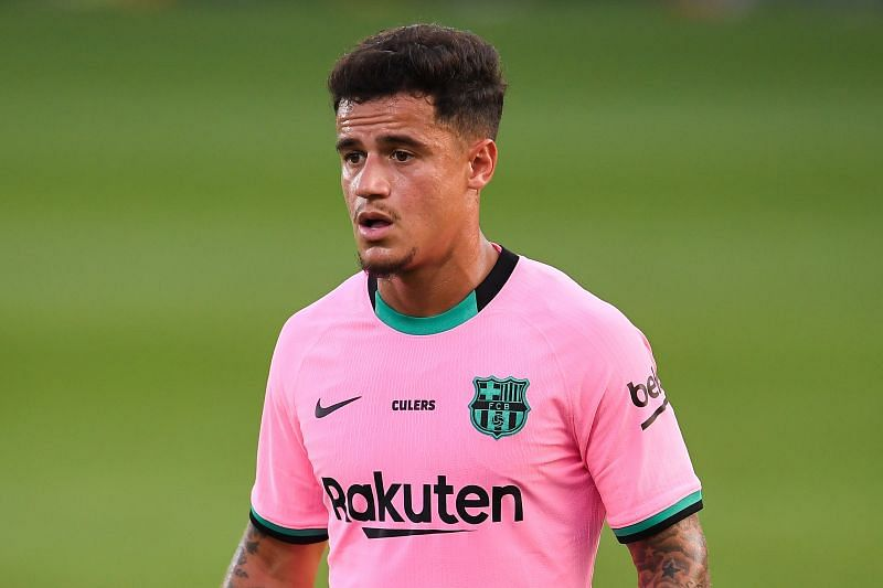 Philippe Coutinho in a pre-season friendly vs Girona