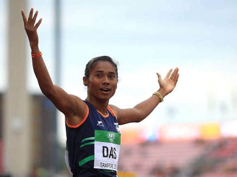 Hima Das has been undergoing training at the NIS Patiala centre