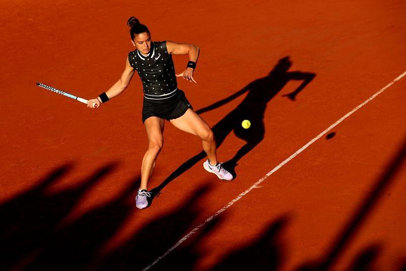 Maria Sakkari during the 2019 French Open at Roland Garros.
