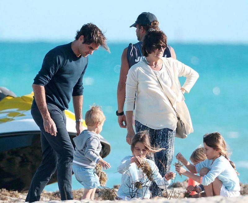 Roger Federer is big on family despite his illustrious, busy career