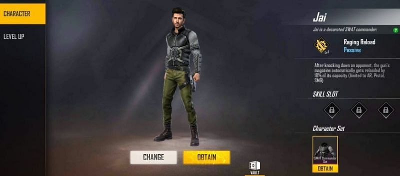 Jai character in Free Fire