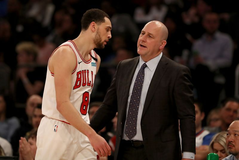 Zach LaVine and Jim Boylen