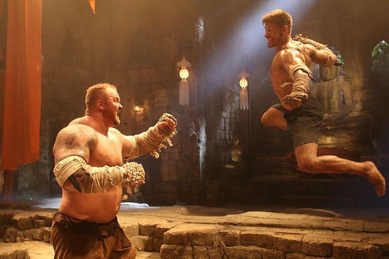 Julius Bjornsson in a still from Kickboxer: Retaliation (Image Credits- Lyles Movie Files)