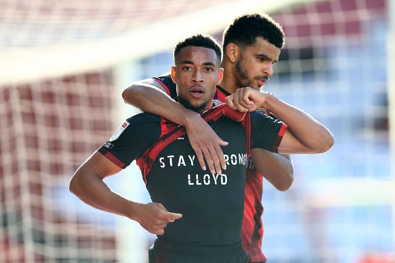 Arnaut Groeneveld with a message of support for the injured Lloyd Kelly after scoring against Norwich