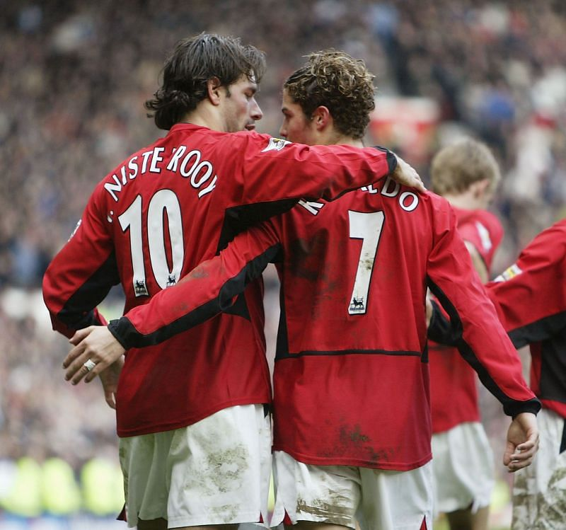 Cristiano Ronaldo spent three years playing with Van Nistelrooy