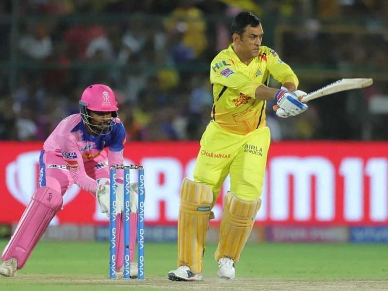 MS Dhoni trudged in to bat at number seven, leaving fans scratching their heads.