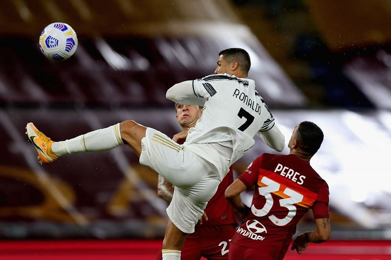 Ronaldo in action against AS Roma