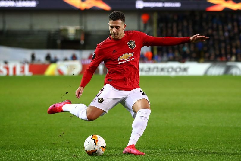 Dalot in action for Manchester United