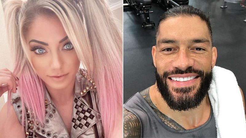 Alexa Bliss and Roman Reigns