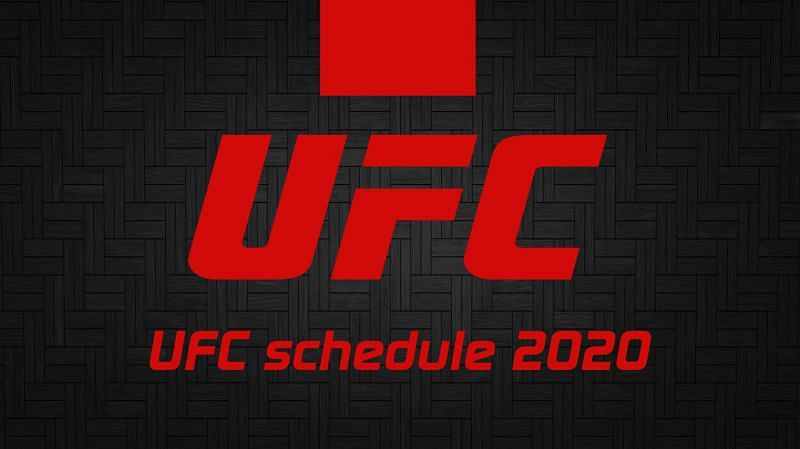UFC Upcoming Events 2020