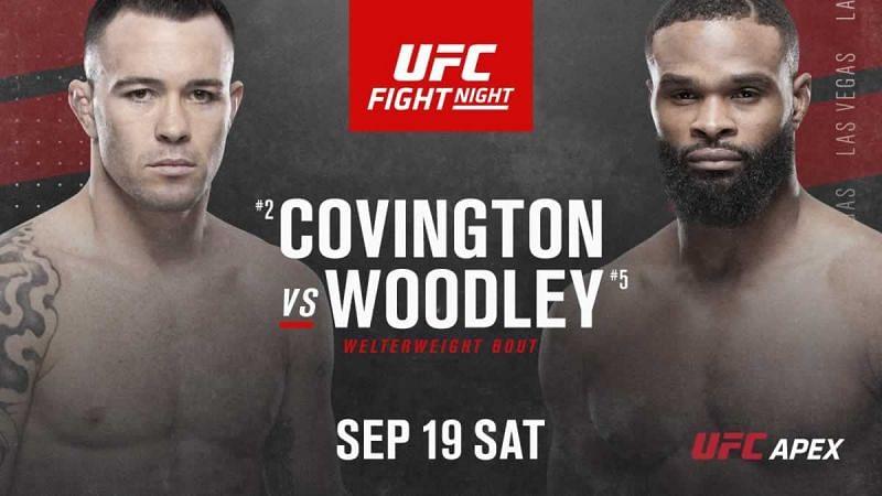 UFC VEGAS 11: COVINGTON VS. WOODLEY RESULTS
