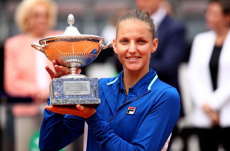 Karolina Pliskova is the defending champion at the Italian Open