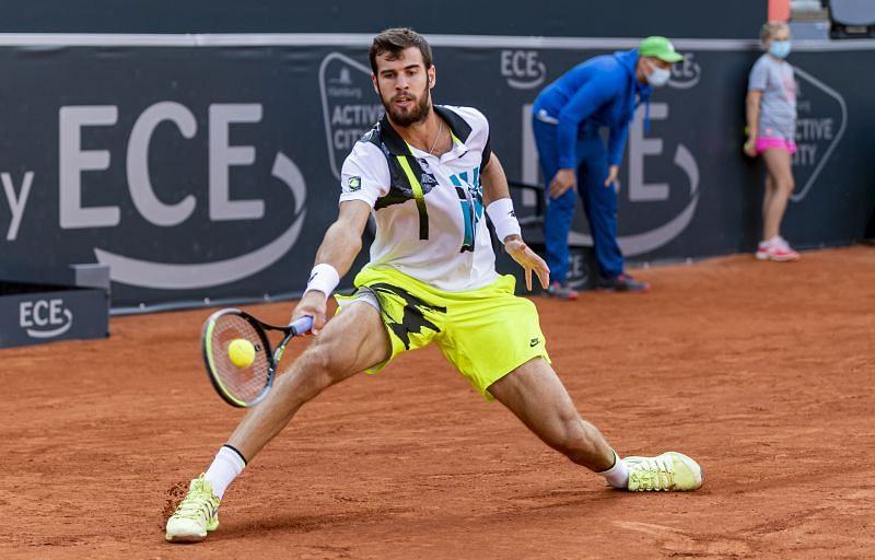 Karen Khachanov at the Hamburg Open 2020