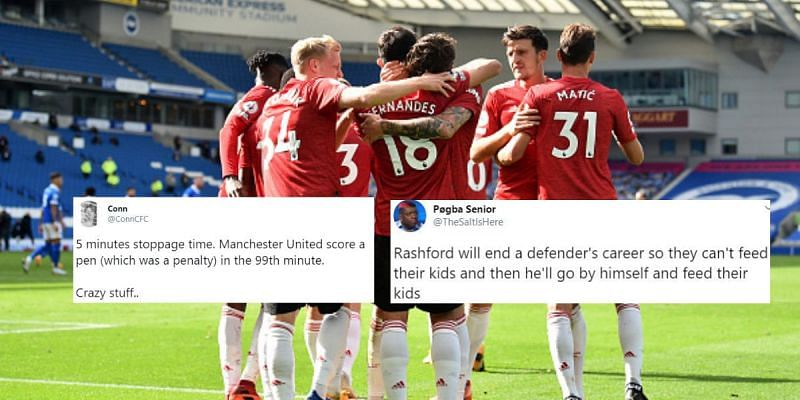 Manchester United recorded a stunning 3-2 victory against Brighton