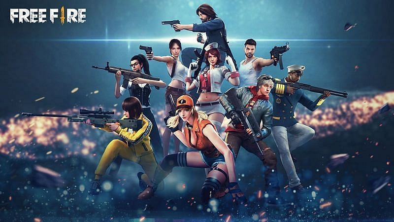 Various characters in Free Fire (Image credits: Wallpaper Access)