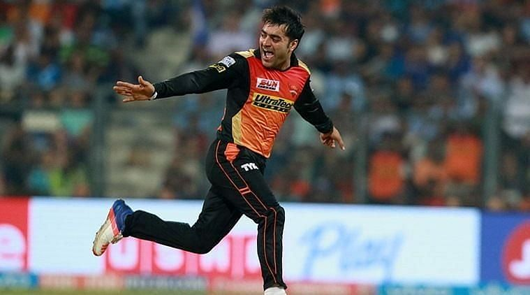 Rashid Khan shone with the ball for SRH in yesterday