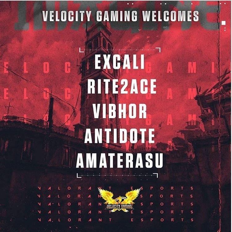 Velocity Gaming signing Team Vertigo (image credits: Velocity Gaming)