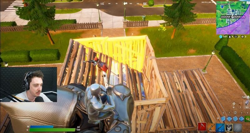 Lazarbeam spots an unsuspecting player at Dooms Domain (Image Credits: Lazarbeam)