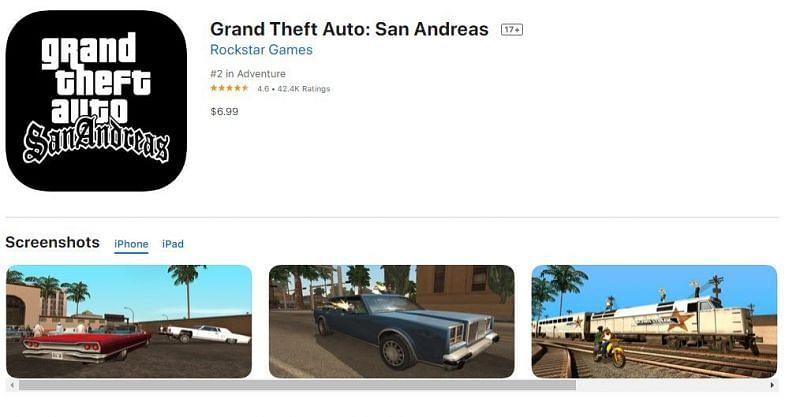 GTA San Andreas - Apple App Store
