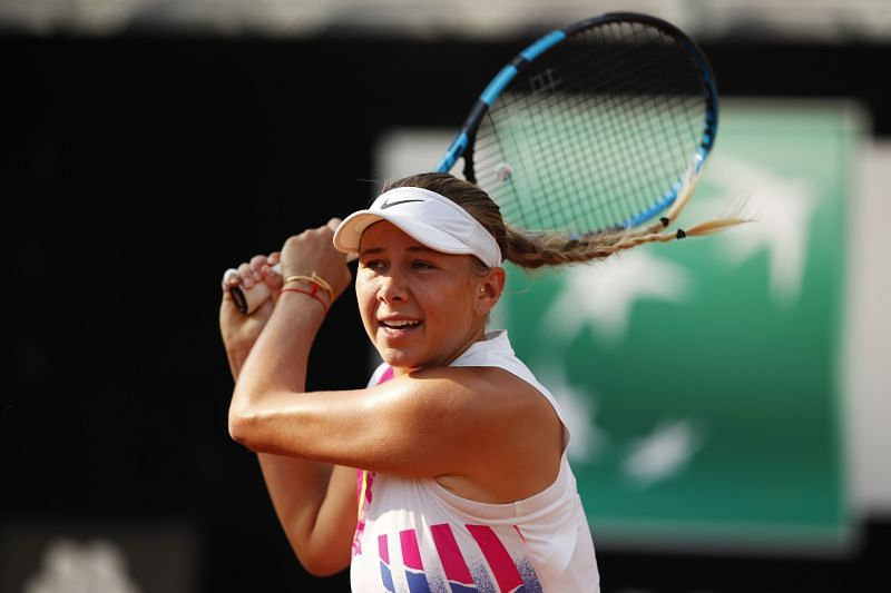 Amanda Anisimova faces Tamara Korpatsch in the first round of the French Open