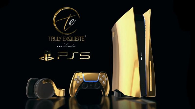 PlayStation 5 covered in 24K Gold (Image Credit: Truly Exquisite)