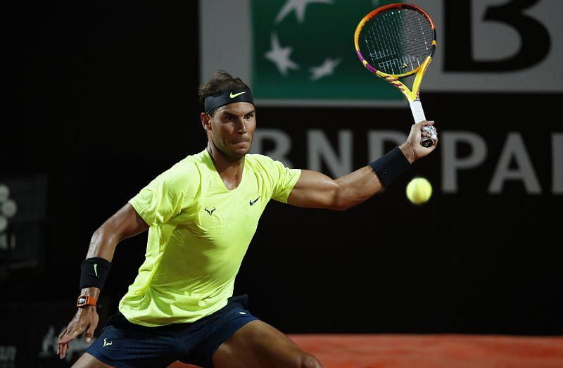 Rafael Nadal at the Rome Masters 2020