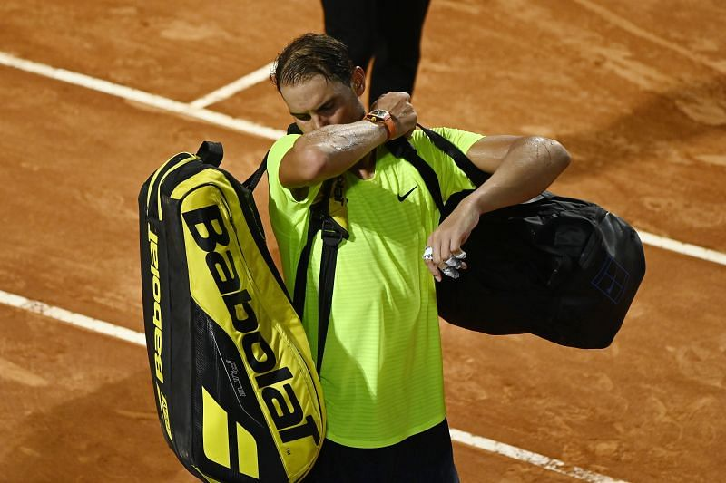 Rafael Nadal exited the Italian Open in the quarterfinals