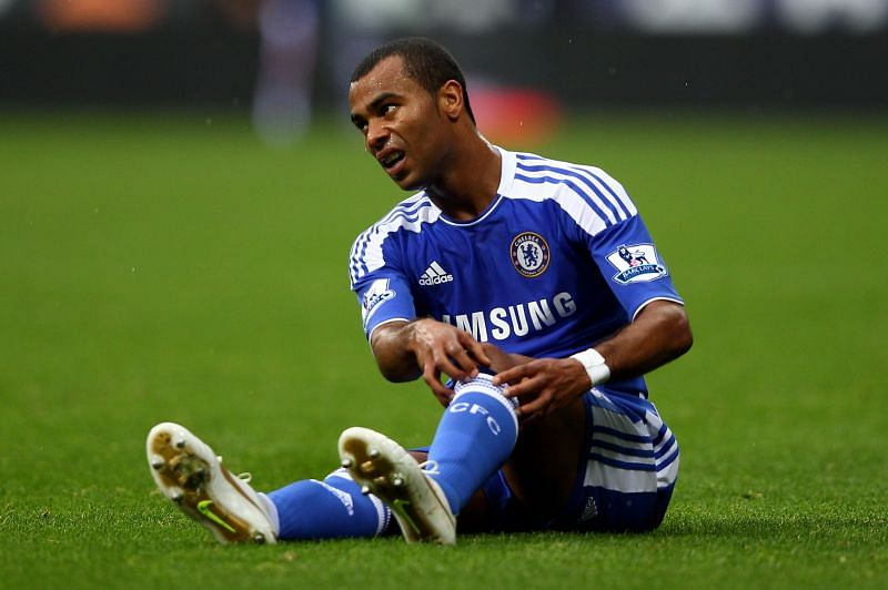 Ashley Cole in Chelsea colours