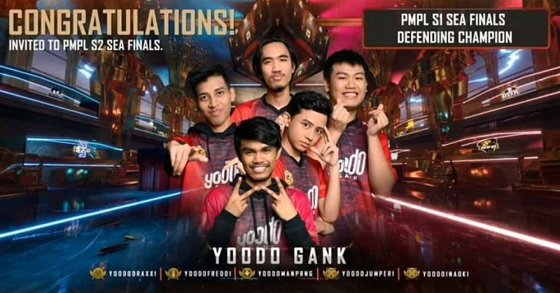 Yoodo gank are invited for PMPL SEA Finals S2.