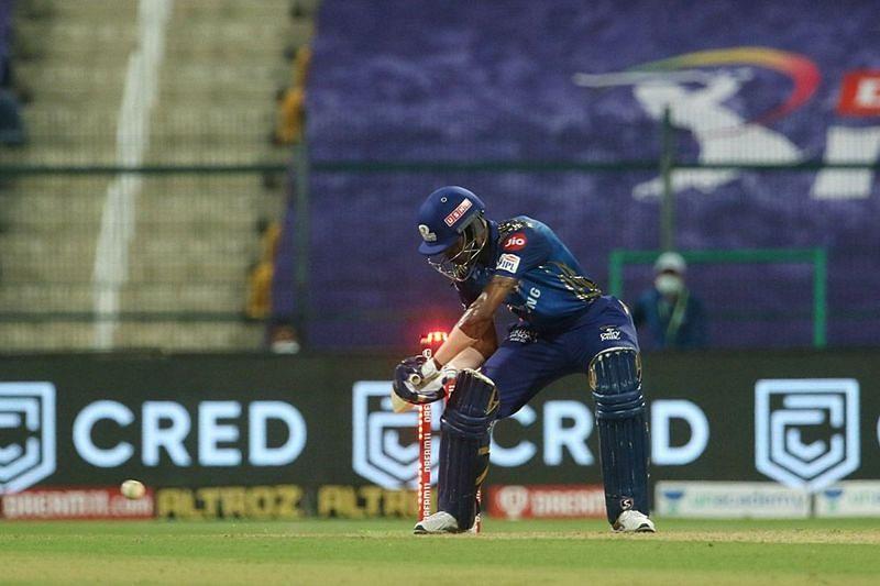 IPL 2020: Hardik Pandya got hit wicket in the penultimate over of Mumbai Indians